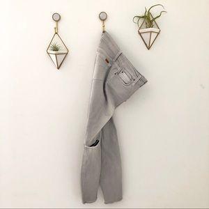 JOES jeans denim grey distressed holes sz 26